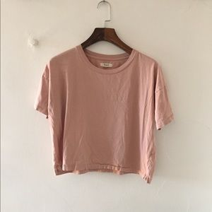Madewell Blush Crop Tee